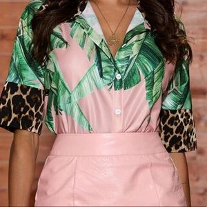 Tropical and Leopard shirt